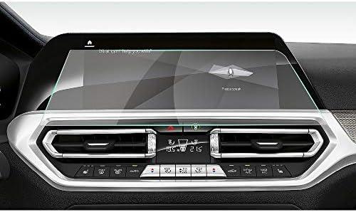 XHULIWQ スクリーンプロテクター左ラダーカーナビゲーションタッチディスプレイ9H強化ガラス保護フィルム、BMW 3シリーズG20 10.25インチ用