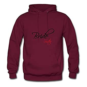 O-neck Lovely Customized Hoody Cotton Bride Sister X-large Women Burgundy