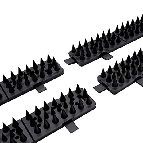 Raccoon Deterrent by Critter Pricker - Proven Humane Dog Cat Garden Wall  Defender and Pest Control 10 connectable Spikes on Strips