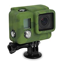 XSories Silicone Cover HD3+, Cover Fits All GoPro 3, GoPro 3+ Camera Housings, GoPro Accessories, GoPro 3 Accessories, GoPro 3+ Accessories (Camo)
