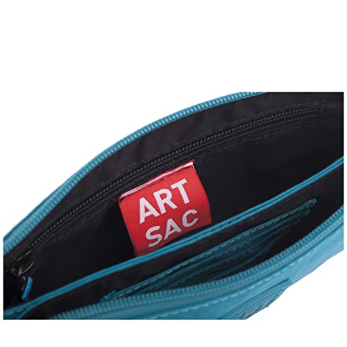 Wrist blauw Monederos Strapped Purse Mujer case Top Artsac Zip Azul HwqfBB
