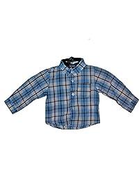 Only Kids Blue Plaid Button Down Dress Shirt, 18M