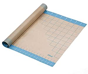 """Dltsli Silicone Pastry Mat With Measurements, 36"""" x 24"""", Full Sticks To Countertop For Rolling Dough, Perfect Fondant Surface."""