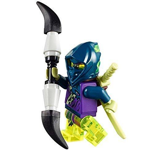 LEGO Ninjago Ghost Warrior Yokai minifigure with double spear and ()
