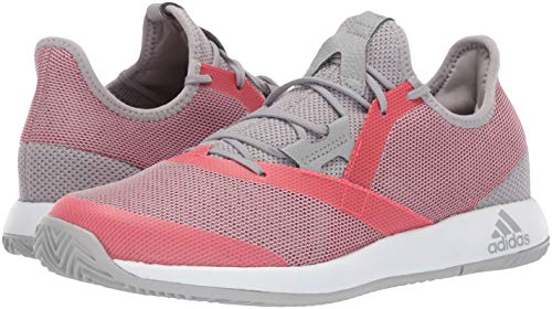 adidas Women's Adizero Defiant Bounce, Light Granite/Shock red/White 6 M US by adidas (Image #5)