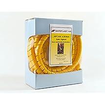 "Pre-Cut Spiral Wrap Hose Protector, 3/4"" OD, 25' Length, Yellow"