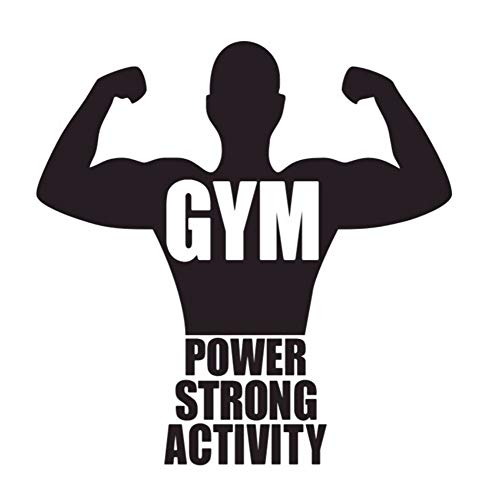 LSFHB Gym Vinyl Wall Decorative Sticker Quotes Power Strong Activity Wall Decals Boy's Room Wall Stickers -