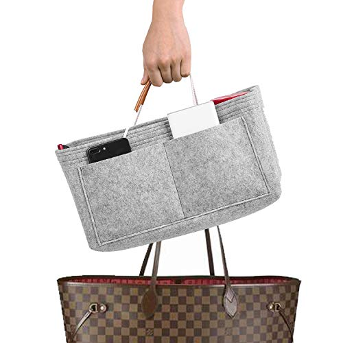 Mercurys Felt Purse Insert Bag Organizer Bag in Bag for Tote & Handbag...