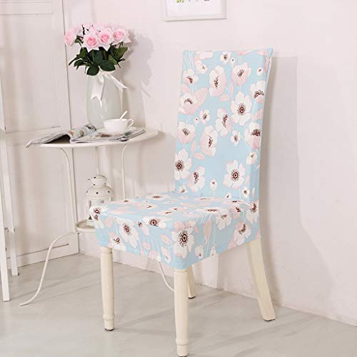 ANOSORA Removable Chair Slipcover Flower Printing Stretch Elastic Restaurant Hotel Chairs Protectors (Extending Cream Table Dining)