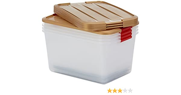 IRIS 100037 Juego de 4 Navidad Cajas para 48 Bolas Pro Box, Caja con Tapa de Comercio/Sistema de ordenación, Transparente, apilable 45 litros.: Amazon.es: Hogar