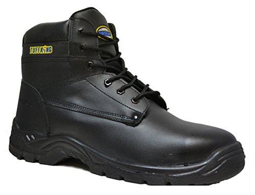(Tuffking 2407 S3 Black Outsize Large Size Steel Toe Cap Safety Work Boots Size 15-17 (17 US) )