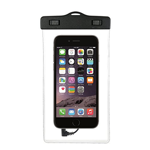 Estuche estanco al agua con entrada de auriculares para LG Electronics K8 (2018) + auricular incluido, transparente | Trotar bolsa de playa al aire libre caja brazalete del teléfono caso de cáscara ba