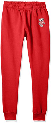 Wisconsin Badger Sweatpants - Old Varsity Brand NCAA Wisconsin Badgers Men's Banded Bottom Jogger, X-Large, Red