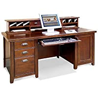 Tribeca Loft Cherry Computer Desk with Hutch
