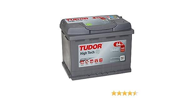 Batería para coche Tudor Exide HIGH-TECH 64Ah, 12V. Dimensiones ...