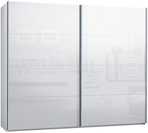 Armario de puertas correderas, armario, aprox. 270 cm, blanco con ...