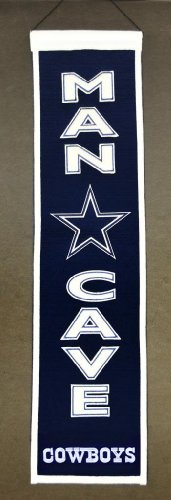 Dallas Cowboys Official NFL 8 inch x 32 inch Man Cave Banner Flag by Winning Streak