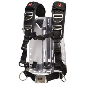 Hollis New Elite II Adjustable Scuba Diving Harness System w/o Backplate (Size Medium/Large)
