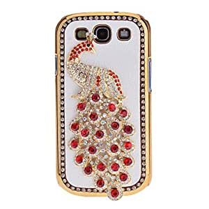 SOL ships in 48 hours Bling Fashion Rhinestone Design Shining Diamond Noble Peacock Hard Case for Samsung Galaxy S3 i9300