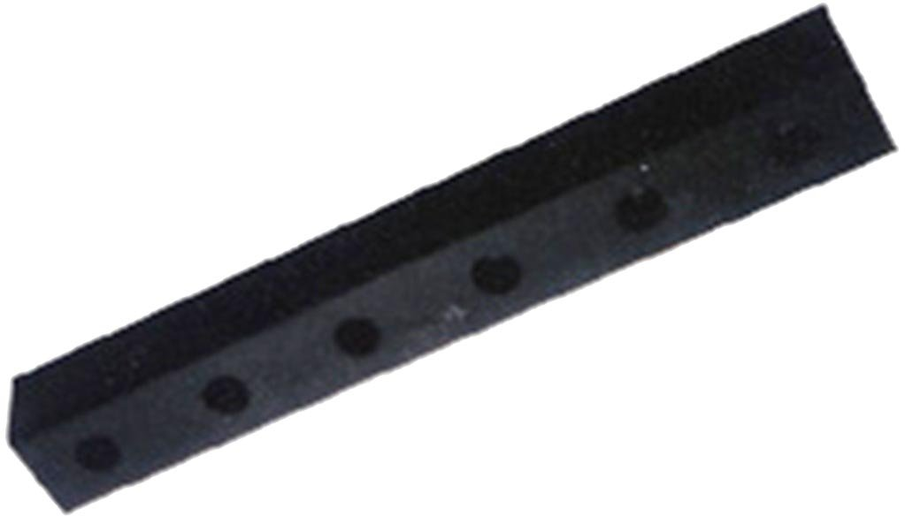 Durable Corporation Rubber Molded Bumper, Rectangular, Horizontal Mount, 4 Holes, 30'' Length, 4-1/2'' Width, 3'' Depth by Durable Corporation (Image #1)