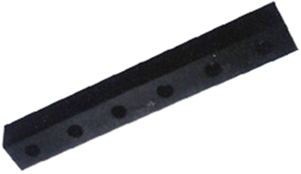 Durable Corporation Rubber Molded Bumper, Rectangular, Horizontal Mount, 4 Holes, 30'' Length, 4-1/2'' Width, 3'' Depth