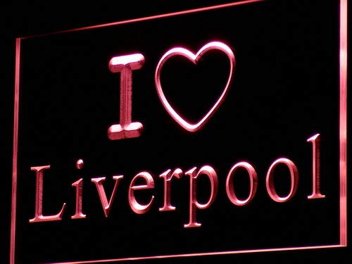 ADVPRO Cartel Luminoso i845-r I Love Liverpool Bar Pub Club ...