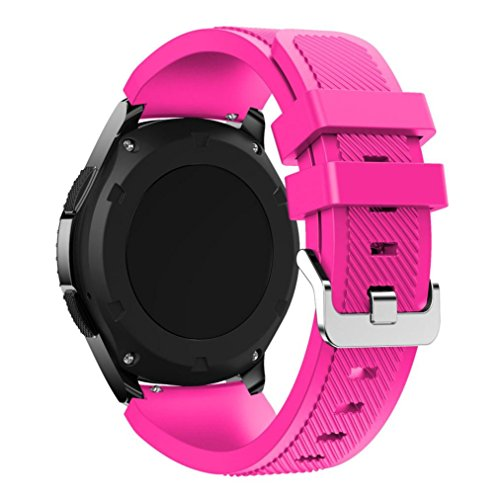 GBSELL New Fashion Sports Silicone Bracelet Strap Band For Samsung Gear S3 Frontier (Pink)