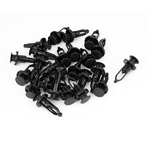 25 Pcs Black Push-Type Fastener Rivet Retainer Clips Ref# 52161-02020