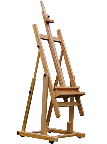 Extra Large Deluxe H-Frame Adjustable Wood Studio Painting Easel with Tilt E026 by 4Less