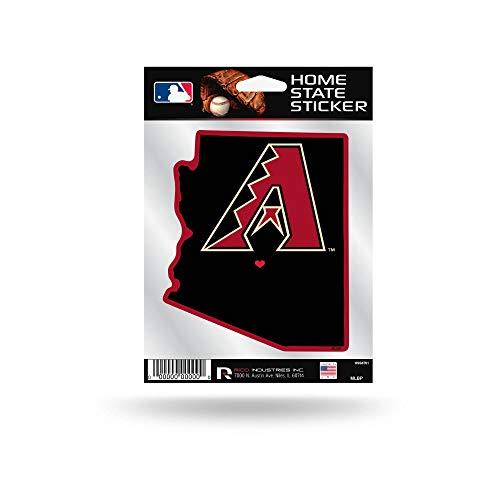 Rico Industries, Inc. Arizona Diamondbacks Home State Sticker Flat Die Cut Decal Emblem Auto Home Baseball