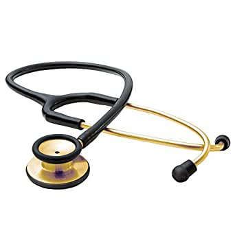 American Diagnostic Corporation Adscope® Adult Stainless Steel Stethoscope 18K Gold Plated