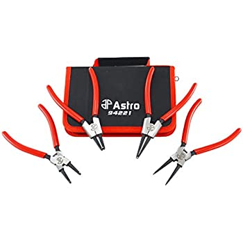 "Astro Tools 94221 Astro Pneumatic Tool 7"" Internal/External Cr-V Snap Ring Pliers, , 4 Piece, 0.067"""