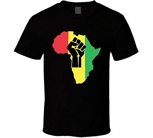 JDhfrk Stand Strong Fist Africa Rasta T Shirt by JDhfrk