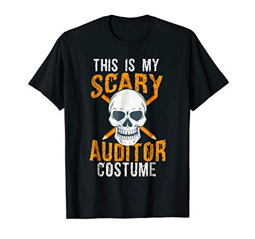Funny Scary Auditor costume Tee shirt for Halloween 2017