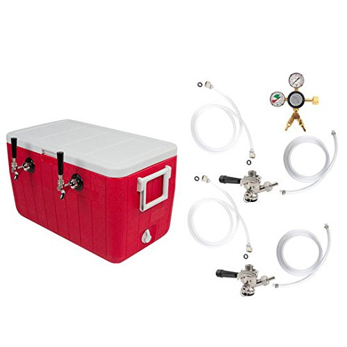 Double Faucet Coil Cooler Complete Kit w/out CO2 Tank