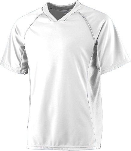 - Augusta Sportswear Men's Wicking Soccer Shirt L White/White