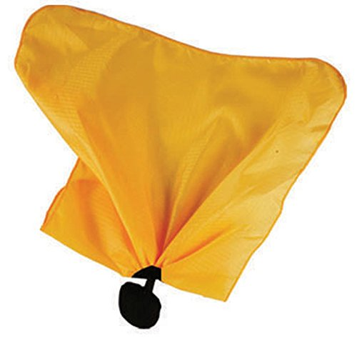 Smitty Officials Football Penalty Flag with Center Weight Ball, Black/Gold