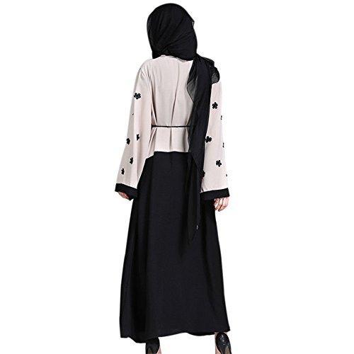 Zhuhaixmy Muslim Cardigans Robe Spleißen Applique Lange Mantel ...