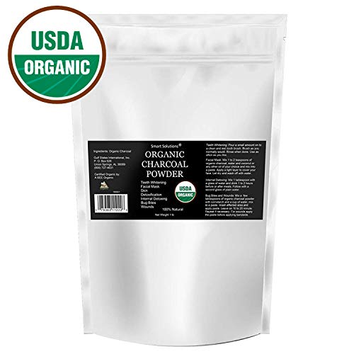 Organic Charcoal Powder, 1 lb - The Only USDA Certified Organic. Bulk Food Grade Powder, Non-GMO, Vegan, No Fillers 100% Pure Use for teeth Whitening Facial Masks Detoxing