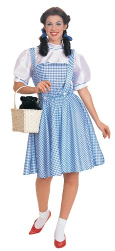 [Rubies Costume Co Women's Wizard Of Oz Dorothy Costume Blue/White One Size] (Dorothy Of Oz Costumes For Adults)
