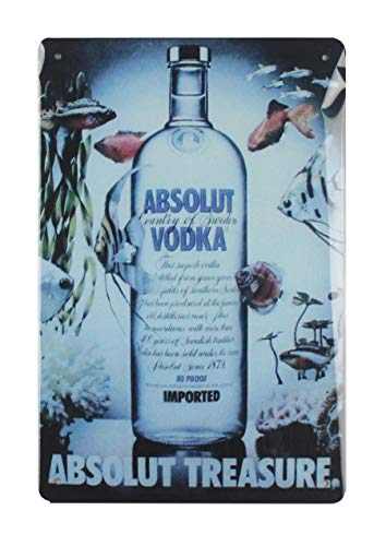 WholesaleSarong Absolut Vodka Drink Food Beverage tin Metal Sign Brewery bar Restaurant Lounge Cafe Wall Decor Outdoor -
