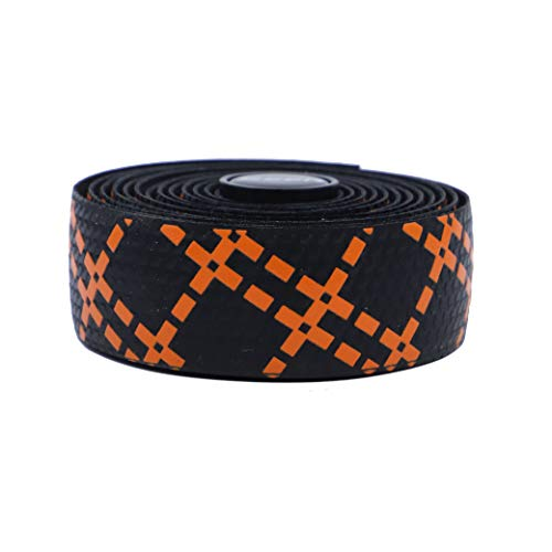 lebar Tape Silicon Wrap for Road Bikes and Cycling – 2PCS per Set (Orange) ()