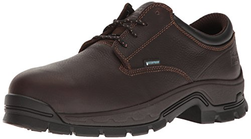 Timberland PRO Men's Stockdale Oxford Alloy Toe Waterproof Industrial & Construction Shoe, Brown Full Grain Leather, 9.5 M - Oxford Titan Mens