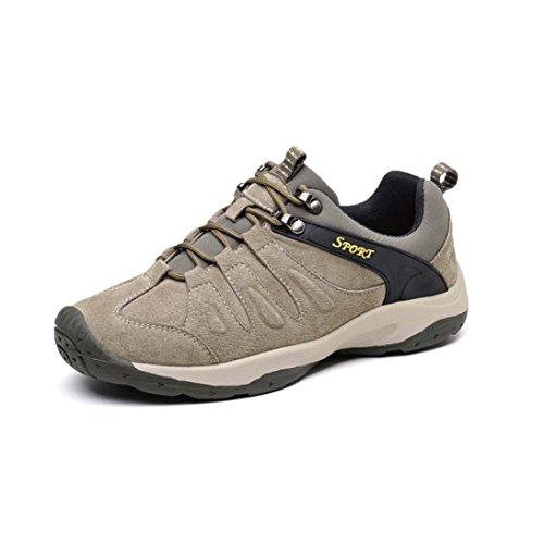ZXCV Zapatos al aire libre Zapatos de los hombres zapatos de senderismo al aire libre zapatos diarios zapatos casuales Khaki
