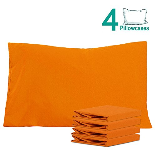 icrofiber Pillowcases Set of 4, Soft and Cozy, Wrinkle, Fade, Stain Resistant, 20