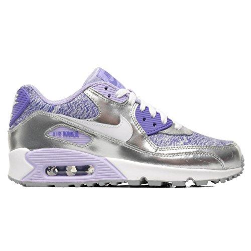 Nike Air Max 90 2007 (Gs) - Zapatillas de deporte Bebé-Niñas Púrpura (Silber-Violett)