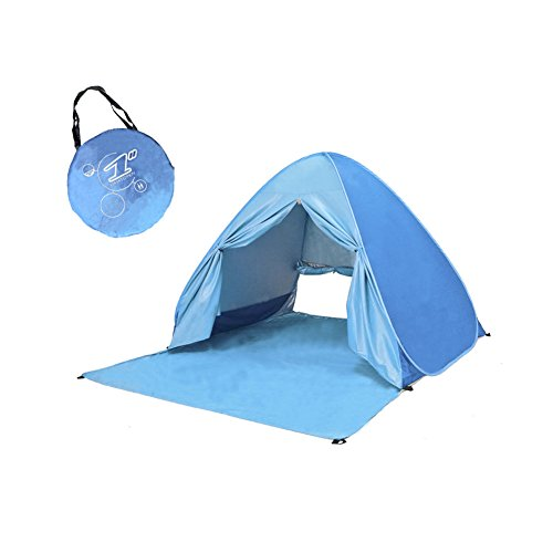 Automatic Pop Up Instant Portable Outdoors Quick Cabana Shade Beach Tent Anti-UV 90+ Sun Shelter Lightest & Most