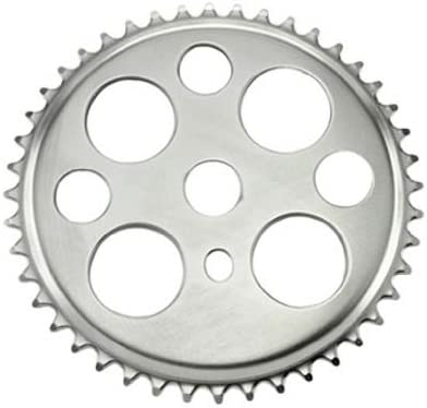 """LOWRIDER BICYCLE 4/"""" ONE PIECE CRANK AND 36T LUCKY 7 SPROCKET IN CHROME"""
