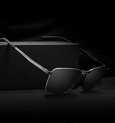 sol de retro sol polarizadas amp;Gafas de 3 hombres Gafas sol de los de de marco clásicas cuadrado del hombres sol de comerciales de Color protecciónn amp; Gafas LYM Gafas Gafas 1 los 4OWAgcYg