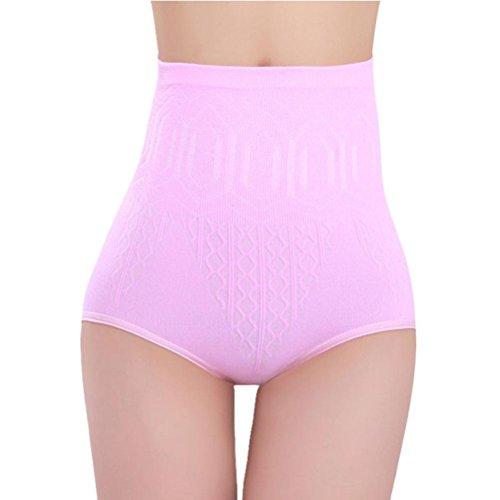 Litetao Hot Sale! Women Shorts Sexy High Waist Tummy Control Body Shaper Briefs Slimming Pant (Free Size, Pink A)